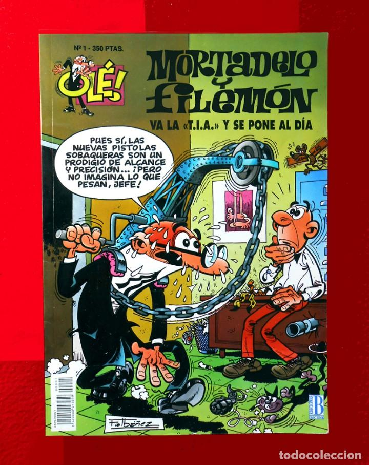 OLÉ Nº 1, MORTADELO Y FILEMÓN - EDICIONES B, 1ª EDICIÓN 1993, - F. IBÁÑEZ - REGALO 25 MORTADELOS (Tebeos y Comics - Ediciones B - Otros)