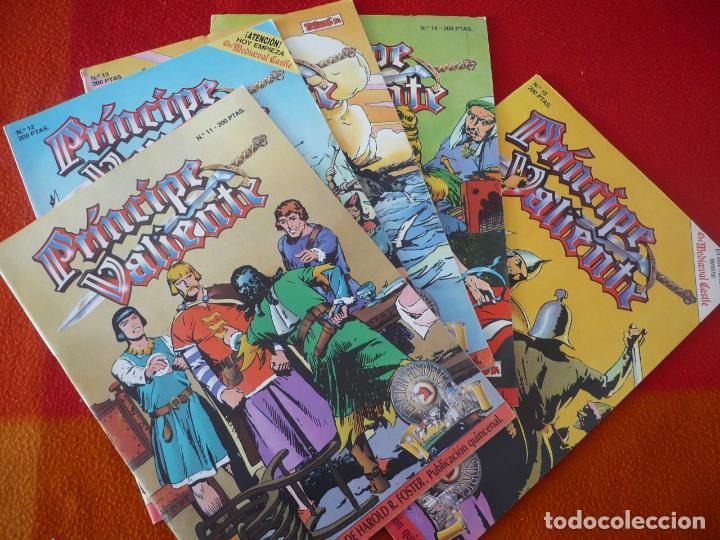 EL PRINCIPE VALIENTE 11, 12, 13, 14 Y 15 EDICION HISTORICA ¡BUEN ESTADO! TEBEOS SA EDICIONES B (Tebeos y Comics - Ediciones B - Otros)