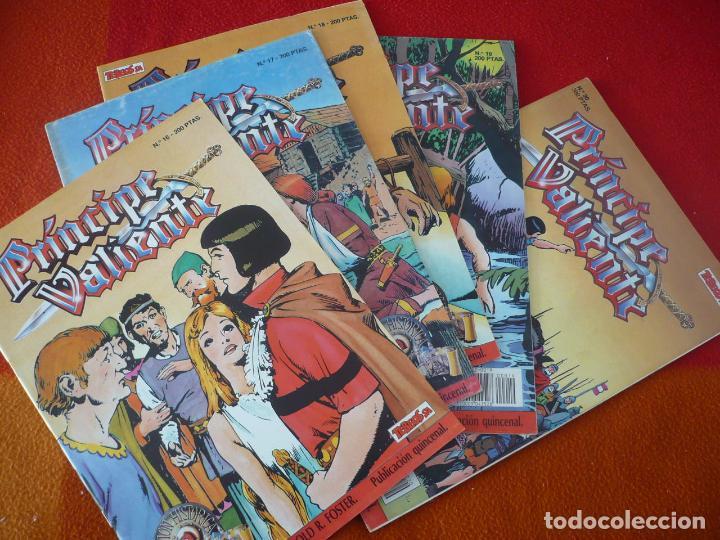 EL PRINCIPE VALIENTE 16, 17, 18, 19 Y 20 EDICION HISTORICA ¡BUEN ESTADO! TEBEOS SA EDICIONES B (Tebeos y Comics - Ediciones B - Otros)