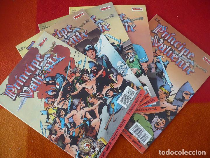 EL PRINCIPE VALIENTE 21, 22, 23, 24 Y 25 EDICION HISTORICA ¡BUEN ESTADO! TEBEOS SA EDICIONES B (Tebeos y Comics - Ediciones B - Otros)