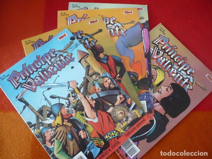 EL PRINCIPE VALIENTE 31, 32, 33, 34 Y 35 EDICION HISTORICA ¡BUEN ESTADO! TEBEOS SA EDICIONES B (Tebeos y Comics - Ediciones B - Otros)