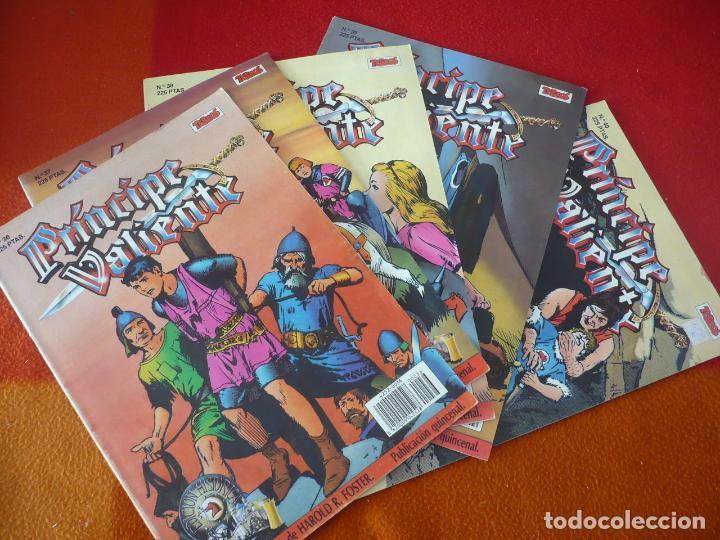 EL PRINCIPE VALIENTE 36, 37, 38, 39 Y 40 EDICION HISTORICA ¡BUEN ESTADO! TEBEOS SA EDICIONES B (Tebeos y Comics - Ediciones B - Otros)