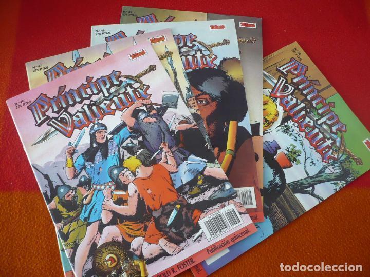 EL PRINCIPE VALIENTE 46, 47, 48, 49 Y 50 EDICION HISTORICA ¡BUEN ESTADO! TEBEOS SA EDICIONES B (Tebeos y Comics - Ediciones B - Otros)