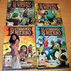 Cómics: LOTE DE 4 TOMOS: EL CORSARIO DE HIERRO - SELECCIÓN DE EDICIÓN HISTÓRICA - 1 AL 4 - EDICIONES B 1987. Lote 153808154