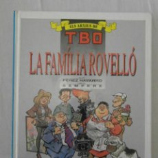 Cómics: ELS ARXIUS DE TBO. LA FAMILIA ROVELLO. EDICIONES B. GRUPO Z. MUY BUEN ESTADO. Lote 154512422
