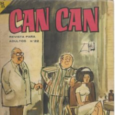 Cómics: CAN CAN REVISTA PARA MAYORES. Nº 22 MARZO 1964. Lote 156219606