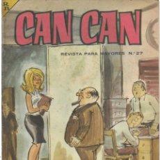 Cómics: CAN CAN REVISTA PARA MAYORES. Nº 27 ABRIL 1964. Lote 156220162