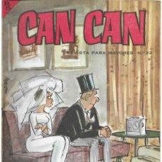 Cómics: CAN CAN REVISTA PARA MAYORES. Nº 32 MAYO 1964. Lote 156229934