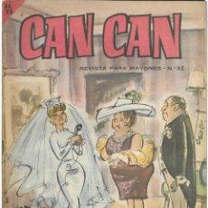 Cómics: CAN CAN REVISTA PARA MAYORES. Nº 35 JUNIO 1964. Lote 156232218