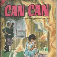 Cómics: CAN CAN REVISTA PARA MAYORES. Nº 41 JULIO 1964. Lote 156234426