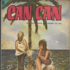 Cómics: CAN CAN REVISTA PARA MAYORES. Nº 54 OCTUBRE 1964. Lote 156242398