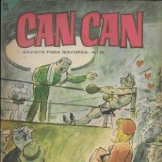 Cómics: CAN CAN REVISTA PARA MAYORES. Nº 61 DICIEMBRE 1964. Lote 156249958