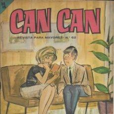 Cómics: CAN CAN REVISTA PARA MAYORES. Nº 62 DICIEMBRE 1964. Lote 156250630