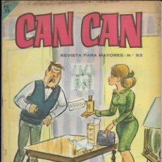 Cómics: CAN CAN REVISTA PARA MAYORES. Nº 63 DICIEMBRE 1964. Lote 156251570