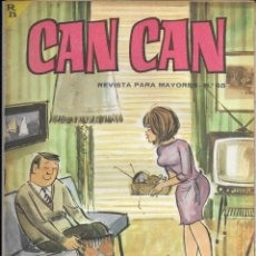 Cómics: CAN CAN REVISTA PARA MAYORES. Nº 65 ENERO 1965. Lote 156252842