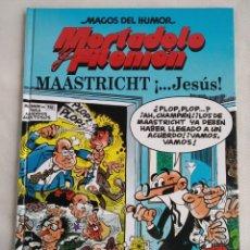Cómics: MORTADELO Y FILEMON MAASTRICHT ¡JESUS! TAPA DURA 1998. Lote 158703870