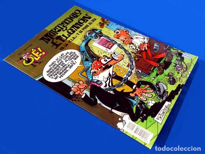 Cómics: OLÉ Nº 1, MORTADELO Y FILEMÓN - EDICIONES B, 1ª EDICIÓN 1993, - F. IBÁÑEZ - REGALO 25 MORTADELOS - Foto 2 - 151397130