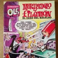 Cómics: MORTADELO Y FILEMÓN: EL CASO DEL BACALAO. COLECCIÓN OLÉ! N°143-M.68 (EDICIONES B, 1988). 1A EDICIÓN. Lote 161229492