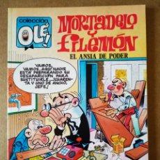 Cómics: MORTADELO Y FILEMÓN: EL ANSIA DE PODER. COLECCIÓN OLÉ! N°370-M.164 (EDICIONES B, 1990). 1A EDICIÓN. Lote 161229708