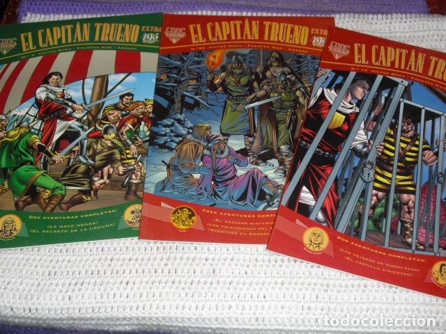 EL CAPITAN TRUENO- V.MORA. FUENTES MAN. - 3 EJEMPLARES NUMS. 3 - 12 - 23 - (Tebeos y Comics - Ediciones B - Clásicos Españoles)