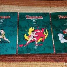 Cómics: 3 TOMOS TARZAN EN COLOR EDGAR BURROUGHS ED.B PRIMERA EDICIÓN 1994. Lote 165384702
