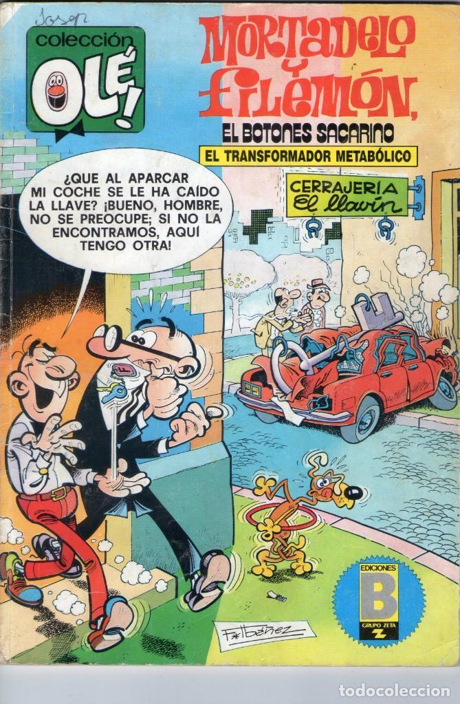MORTADELO Y FILEMÓN - EL TRANSFORMADOR METABÓLICO - OLÉ Nº 182 M. 224 - F. IBAÑEZ - EDICIONES B. (Tebeos y Comics - Ediciones B - Otros)
