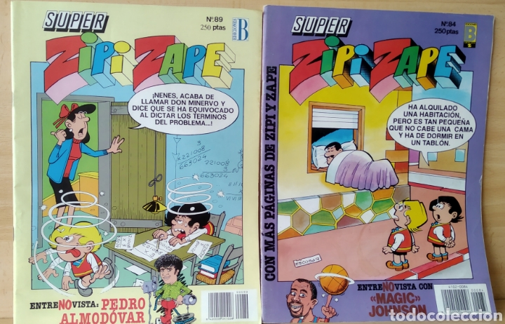 2 CÒMICS ZIPIZAPE N. 84-89 (Tebeos y Comics - Ediciones B - Otros)