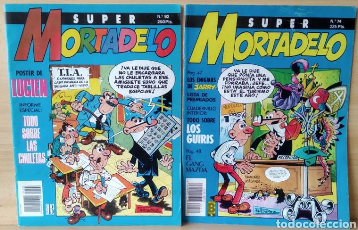 2 CÒMICS SUPER MORTADELO N. 74-92 (Tebeos y Comics - Ediciones B - Clásicos Españoles)