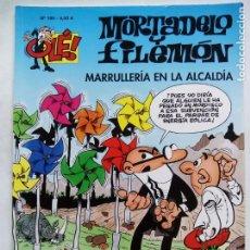 Cómics: MORTADELO Y FILEMÓN. MARRULLERÍA EN LA ALCALDÍA. OLÉ Nº 189. EDICIONES B. ESPAÑA 2011.. Lote 169210300