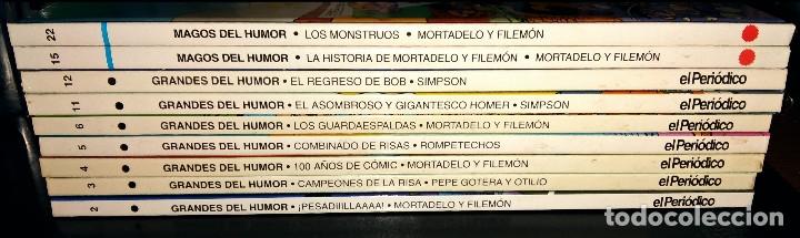 GRANDES / MAGOS DEL HUMOR 9 NÚMEROS MORTADELO FILEMÓN ROMPETECHOS PEPE GOTERA SIMPSONS ELPERIÓDICO (Tebeos y Comics - Ediciones B - Humor)