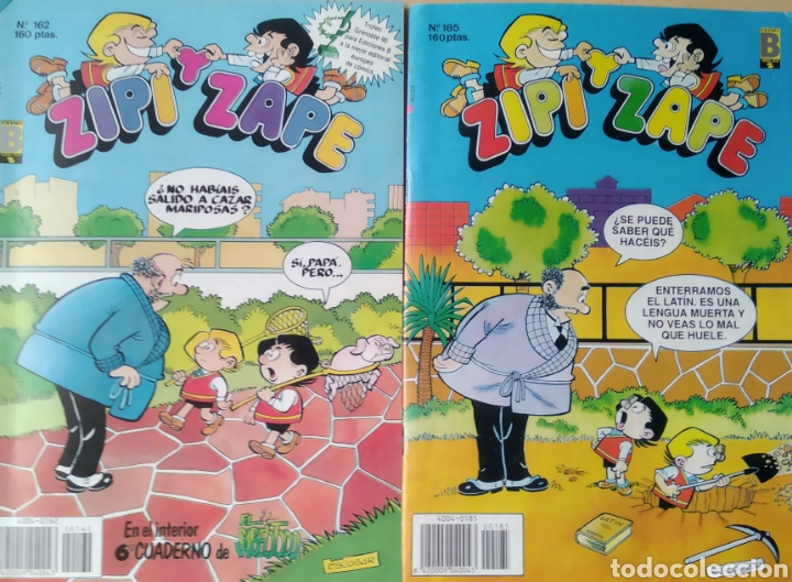 2 COMICS ZIPI ZAPE N. 162-185 (Tebeos y Comics - Ediciones B - Otros)