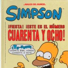 Cómics: MAGOS DEL HUMOR Nº 48 LOS SIMPSON. MATT GROENING. . Lote 170229428