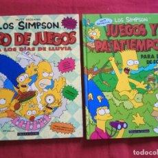 Fumetti: MATT GROENING, LOS SIMPSON: LIBRO DE JUEGOS PARA LOS DÍAS DE LLUVIA / JUEGOS Y PASATIEMPOS.. Lote 171369047