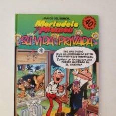 Cómics: MORTADELO Y FILEMON - SU VIDA PRIVADA - 40 ANIVERSARIO- 1ª EDICION 1998 TAPA DURA. Lote 171811660