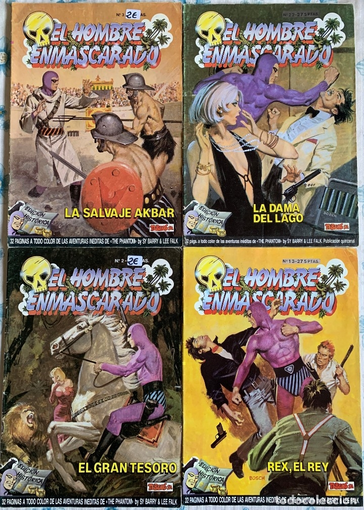 LOTE COMICS - THE PHANTOM - EL HOMBRE ENMASCARADO - EDICION HISTORICA - NUMEROS 2, 3, 13 Y 22 (Tebeos y Comics - Ediciones B - Otros)