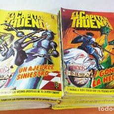 Cómics: LOTE 114 EJEMPLARES EL CAPITAL TRUENO, EDICION HISTORICA Nº 6 AL 121 (FALTAN 103 Y 104) 1987 A 1989. Lote 172634864