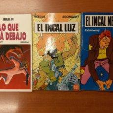 Cómics: EL INCAL NEGRO EL INCAL LUZ LO QUE ESTÁ DEBAJO JODOROWSKY MOEBIUS DRAGON POCKET 1, 2 Y 7. Lote 173871033