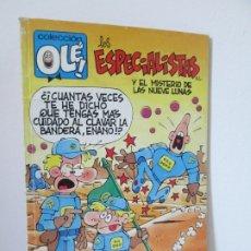 Cómics: LOS ESPECIALISTAS. Y EL MISTERIO DE LAS NUEVE LUNAS. EDICIONES B GRUPO ZETA 1989. Lote 174432490