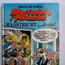 Cómics: MORTADELO Y FILEMÓN. MAASTRICHT ¡JESÚS!. MAGOS DEL HUMOR. EDICIONES B. 1998.. Lote 174962382