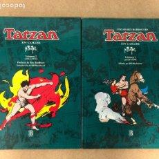 Cómics: TARZAN EN COLOR. H. FOSTER. 2 TOMOS (2º 1932-1933 Y 3º 1933-1934). EDGAR RICE BORROUGHS. EDICIONES B. Lote 175059853
