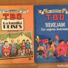 Cómics: LOTE 2 TOMOS LOS ARCHIVOS DE TBO, NUMEROS 1 Y 5 - EDICIONES B / TAPA DURA - GCH. Lote 175483958
