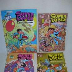 Cómics: LOTE DE 4 COMICS DE SUPER LOPEZ X JAN - COLECCIÓN OLÉ - EDICIONES B - SUPERLOPEZ -. Lote 176721175
