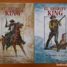 Cómics: EL SHERIFF KING - COMPLETA - TOMOS Nº 1 Y 2 - TAPA DURA - VICTOR MORA - EDICIONES B (N2). Lote 177569308