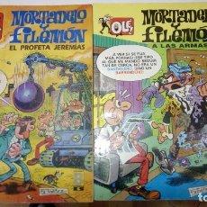 Cómics: LOTE DE 2 OLE DE MORTADELO Y FILEMON - EL PROFETA JEREMIAS Y A LAS ARMAS - EDICIONES B AÑOS 90. Lote 178305115