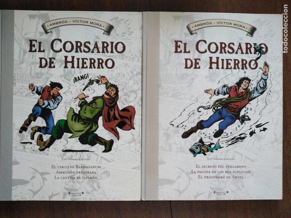 TOMOS 3 Y 4 EL CORSARIO DE HIERRO FORMATO GRANDE BLANCO Y NEGRO (Tebeos y Comics - Ediciones B - Clásicos Españoles)