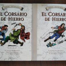 Cómics: TOMOS 3 Y 4 EL CORSARIO DE HIERRO FORMATO GRANDE BLANCO Y NEGRO. Lote 179067873
