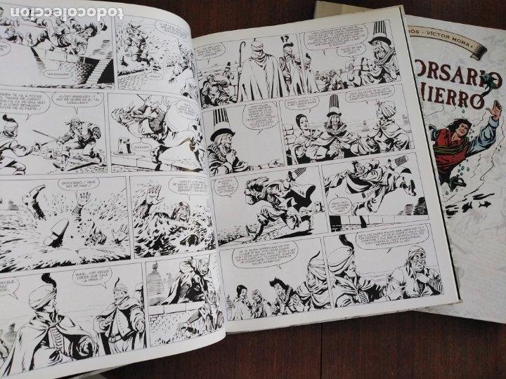 Cómics: TOMOS 3 Y 4 EL CORSARIO DE HIERRO FORMATO GRANDE BLANCO Y NEGRO - Foto 2 - 179067873