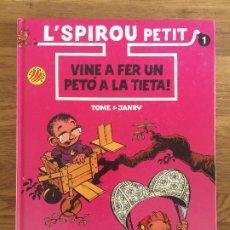 Cómics: L'SPIROU PETIT 1 - VINE A FER UN PETO A LA TIETA! - EDICIONES B - TAPA DURA - BUEN ESTADO. Lote 179311816