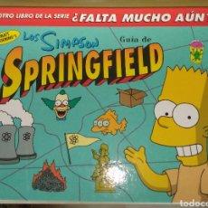 Cómics: LOS SIMPSON. GUÍA DE SPRINGFIELD. PRIMERA EDICIÓN. Lote 180245156