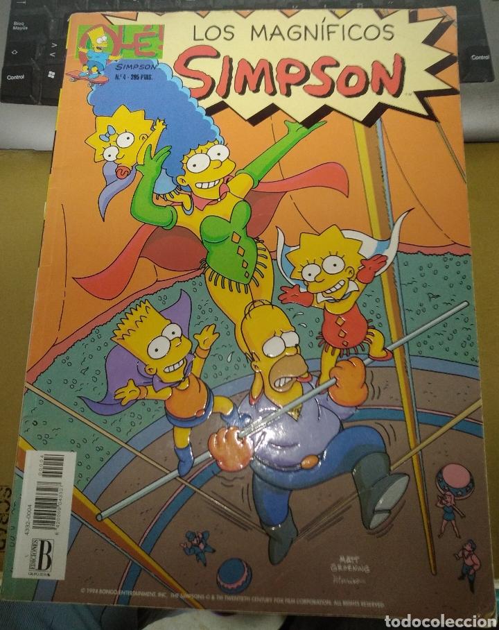 LOS MAGNÍFICOS SIMPSON. NÚMERO 4 (Tebeos y Comics - Ediciones B - Otros)
